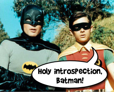 Holy introspection, Batman!